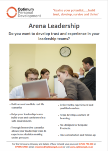 Arena Leadership Flyer