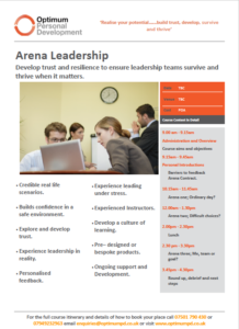 Arena leadership course overview